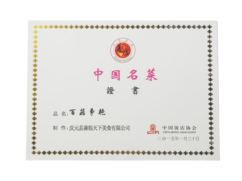 中国名菜—百菇争艳